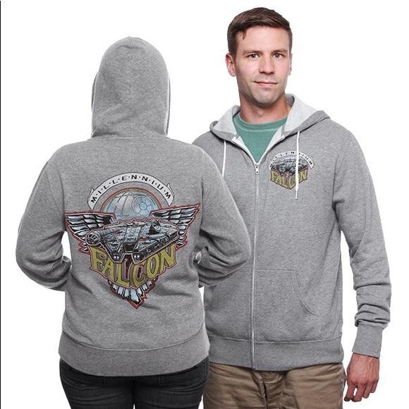 NEW Star Wars Millennium Falcon Unisex Zip Hoodie